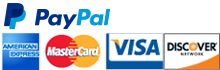 We Accept: American Express, MasterCard, Visa and Discover